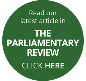 Read our latest article in The Parliamentary Review - Click here